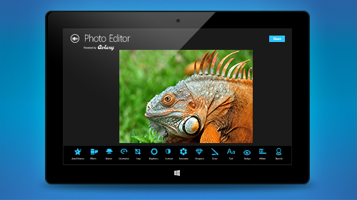 <img src='http://amd-dev.wpengine.netdna-cdn.com/wordpress/media/2013/03/Aviary_Logo.png' class='alignright'><p>Aviary's easy-to-integrate, cross platform SDK is now available for Windows 8. With Aviary, developers can add a powerful and intuitive photo editor to their Windows 8 apps in minutes. Aviary's effects are implemented through the new heterogeneous compute language, C++ AMP. Computations are performed on the highly parallel graphics processing unit (GPU) cores inside the AMD APU. Applying CAMP allows for processing of the complete range of effects instantaneously – on average, 16x faster than comparable processors, according to benchmark studies conducted by AMD</p><a href='http://aviary.com/w8' target='blank' class='action'>Learn More</a>